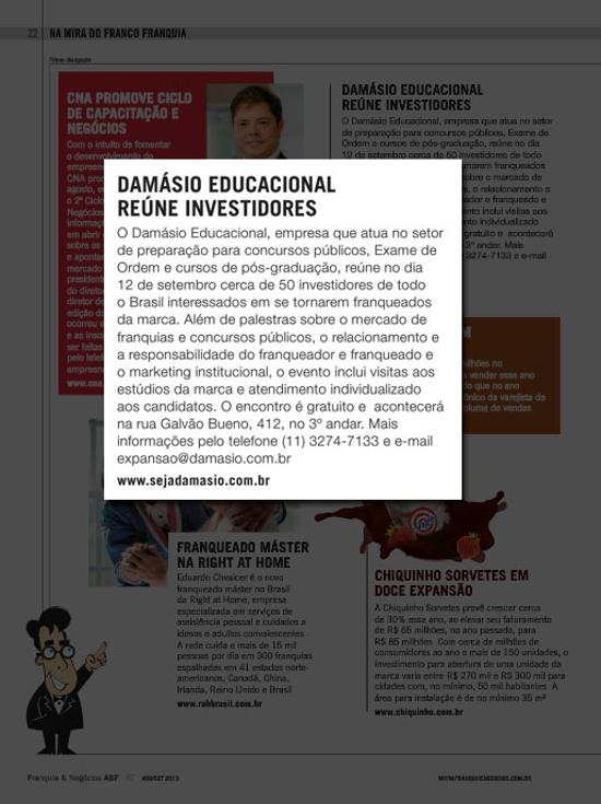 Damásio Educacional reúne investidores